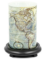 Map Simmering Light with Black Base