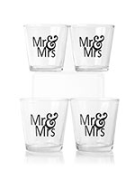 Mr. & Mrs. Petite Glimmer Glass 4pk