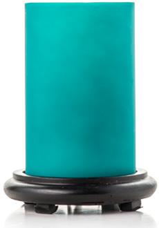 Bright Turquoise Simmering Light w/ Black Base