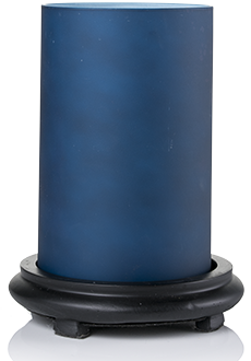 Indigo Blue Simmering Light w/ Black Base
