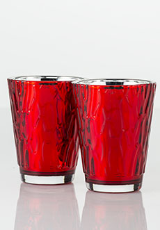 Red Wave Mercury Glimmer Glass 2pk