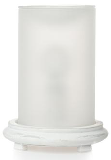 White Simmering Light w/ Antique White Base