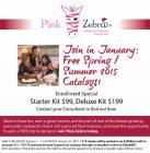 Pink Zebra Consultant Kit for January