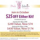 Pink Zebra Consultant Starter Kit for October!