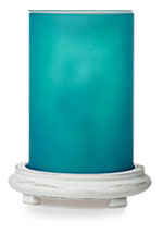 Bright Turquoise Simmering Light w/ Antique White Base