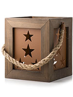 Rustic Star Box Accent Shade