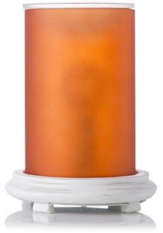 Orange Simmering Light w/ Antique White Base