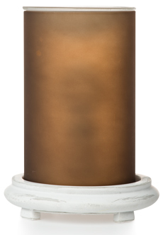 Brown Simmering Light w/ Antique White Base