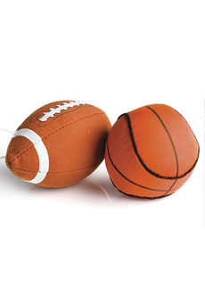Football and Basketball Hang-It (2 pk)