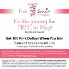 Pink Zebra Consultant Discount for May!