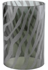 Zebra Etched Glass Shade (4''d x 6''h)
